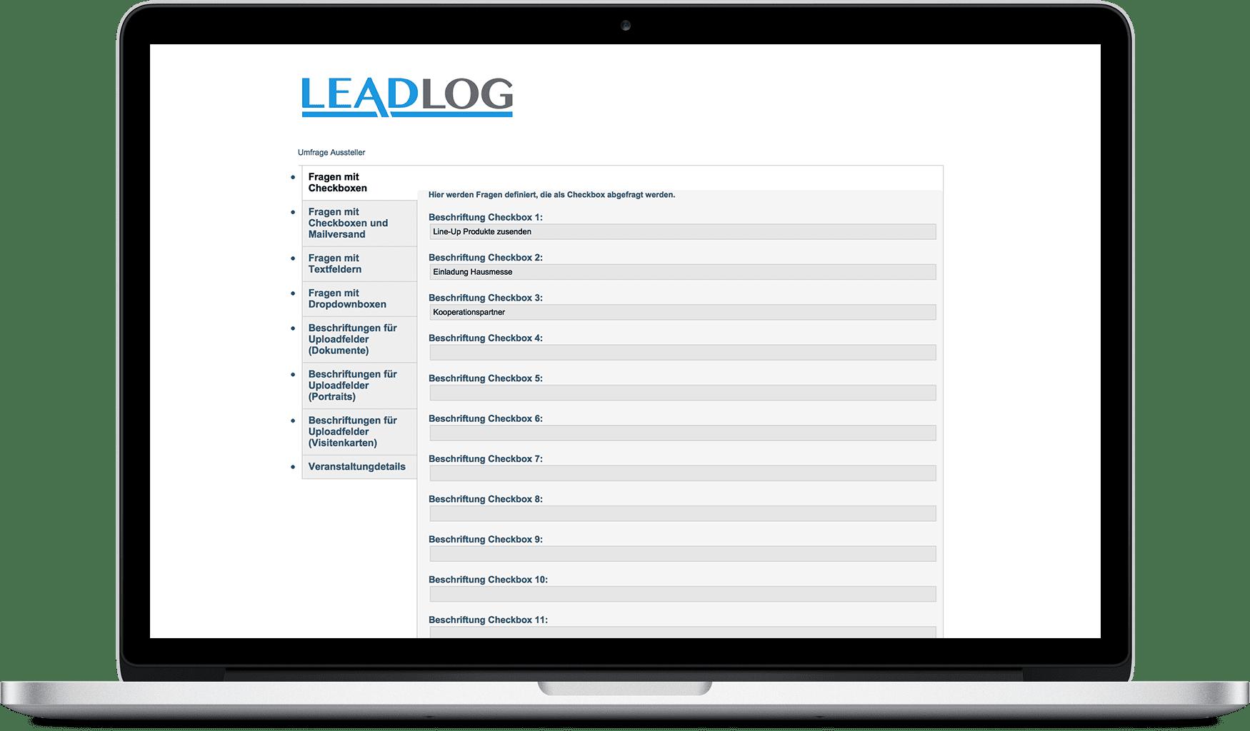 LeadLog Web-Portal
