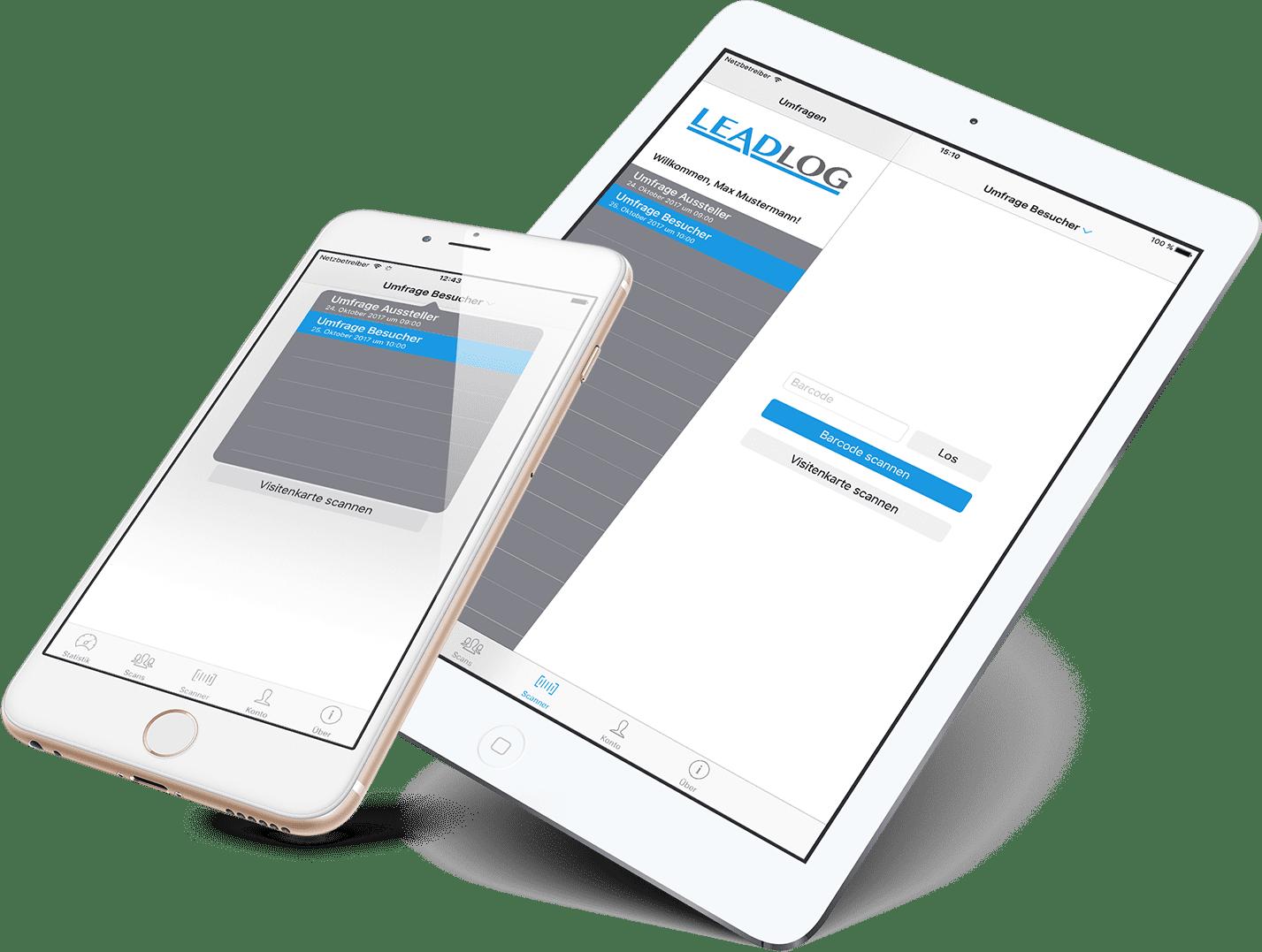 LeadLog auf iPhone und iPad